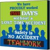 Electronic Safety Scoreboard - Proudly Worked Without Lost Time