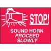 Stop Sound Horn Procceed Slowly Forklift Traffic Signs