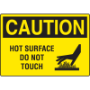 Harsh Condition OSHA Signs - Caution - Hot Surface Do Not Touch