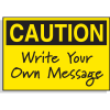 Write-On Caution Labels