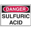 Chemical Hazard Labels - Danger Sulfuric Acid