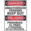 Heavy Duty Bilingual Security Signs - Danger/Peligro Unauthorized Persons Keep Out