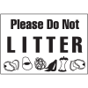 Housekeeping Signs - Please Do Not Litter