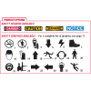Caution Look Out For Forklift Illuminated Warehouse Safety Signs