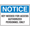Notice Authorized Personnel Only Key Control Signs