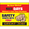 LED Message Safety Scoreboard - Safety Starts With You