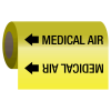 Medical Gas Self-Adhesive Pipe Markers-On-A-Roll - Medical Air