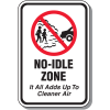 No Idle Zone Signs