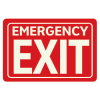 Emergency Exit  - Glow-In-The-Dark Polished Sign