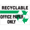 Recycling Labels - Recyclable Office Paper Only