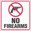 See Thru Security Labels - No Firearms