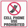 See Thru Security Labels - Cell Phone Use Prohibited