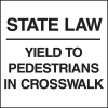 Standard A-Frame Pedestrians In Crosswalk Signs