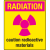Universal Graphic Signs And Labels - Radiation Caution Radioactive Materials