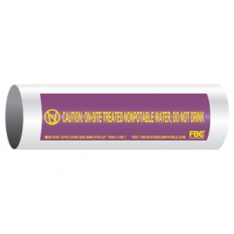 CPVC-Code™ Nonpotable Water Pipe Markers - Treated Water