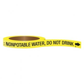 CPVC-Code™ Nonpotable Water Roll Pipe Markers - Do Not Drink