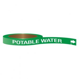CPVC-Code™ Nonpotable Water Roll Pipe Markers - Potable Water