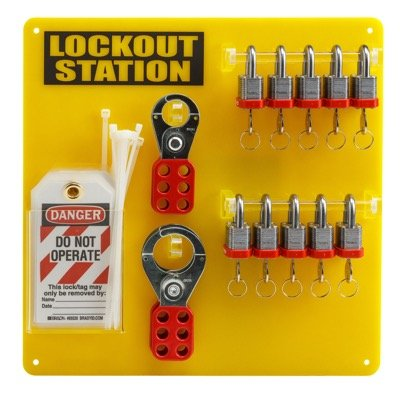 "Brady 10-Lock Board (Filled with Brady 3/4"" Steel Padlocks) - Part Number - 51188 - 1/Each"