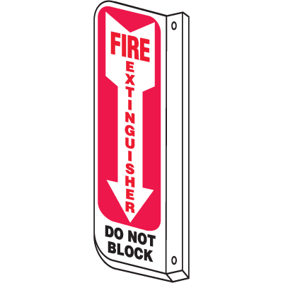 Fire Extinguisher Do Not Block 2-Way View Fire Safety Signs