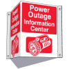 3-Way Information Center Signs- Power Outage