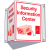 3-Way Information Center Signs- Security Information