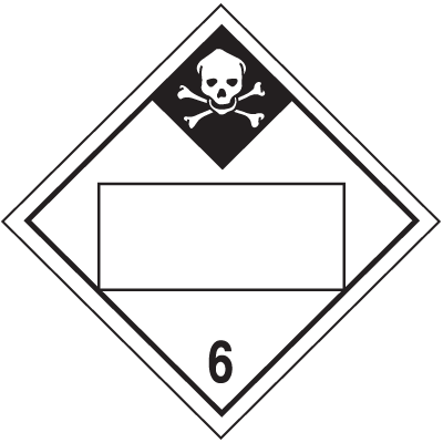 Inhalation Hazard Class 6 - 4-Digit Blank Placards