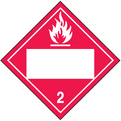 Flammable Gas 4 Digit Blank Placards