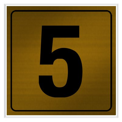 5 - Engraved Door Number Signs