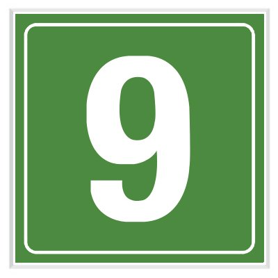 9 - Engraved Door Number Signs