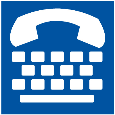 Text Telephone Symbol Signs - ADA