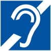 Hearing Loss Symbol of Access Signs - ADA