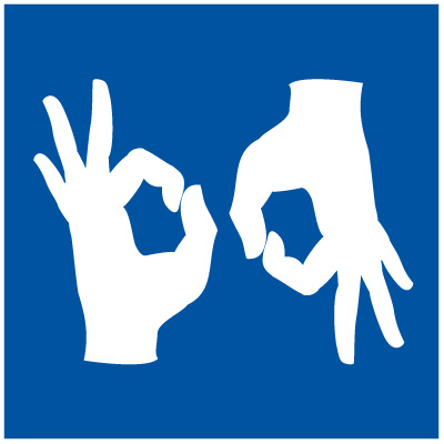 Sign Language Interpretation Symbol Signs - ADA