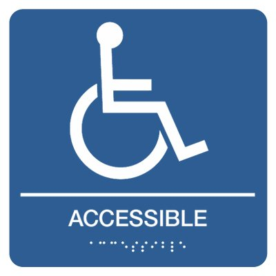 Accessible with Accessibility Graphic - Graphic Braille Signs
