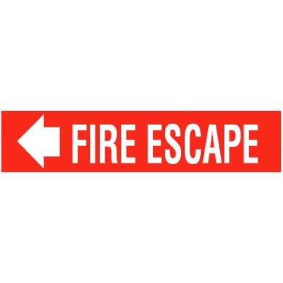 Fire Escape Self-Adhesive Vinyl Fire Signs