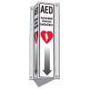 3-Way View AED Sign (Includes Arrow Graphic)