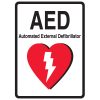 1-Way View AED Sign - Automated External Defibrillator