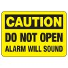 Alarm Signs - Caution Alarm Will Sound