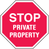 Private Property Security Stop Signs