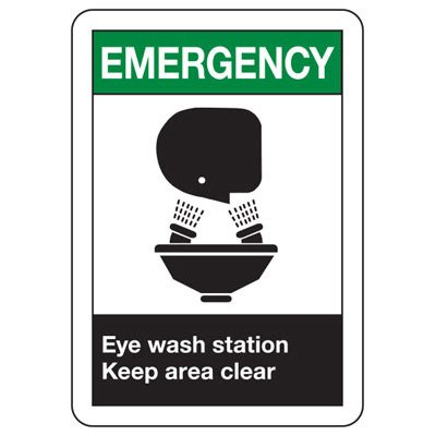 ANSI Eyewash Signs - Emergency Eye Wash Station