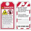 ANSI Skin Injection Hazard Tags