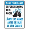 Anti-Microbial Signs - Wash Your Hands / Lavese Las Manos