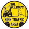 Anti-Slip Floor Markers - Be Alert! High Traffic Area
