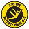 Anti-Slip Floor Markers - Caution Slippery When Wet