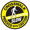 Anti-Slip Floor Markers - Crosswalk Proceed With Caution