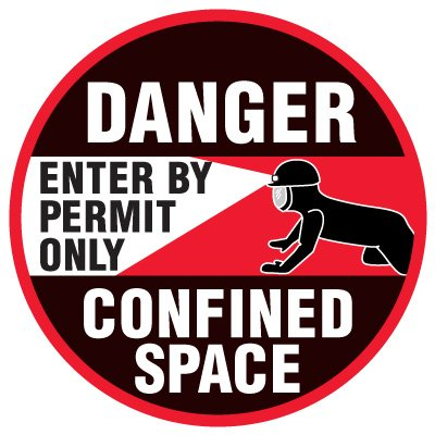 Anti-Slip Floor Markers - Danger Confined Space
