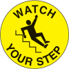 Anti-Slip Safety Floor Markers - Watch Your Step