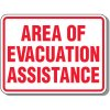 Area of Evacuation Assistance - Evacuation Signs