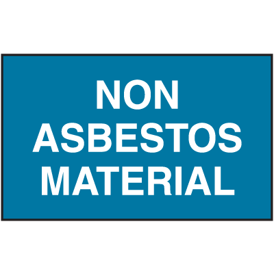 Asbestos Warning Labels - Asbestos Free