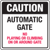 Automatic Gate Security Signs- Automatic Gate
