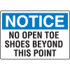 Notice No Open Toe Shoes Beyond This Point Injury Prevention Signs
